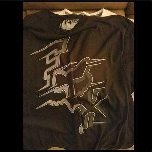 Black fox T-shirt.
